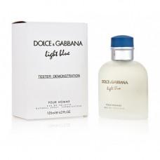 ТЕСТЕР DOLCE AND GABBANA LIGHT BLUE POUR HOMME, 125 ML